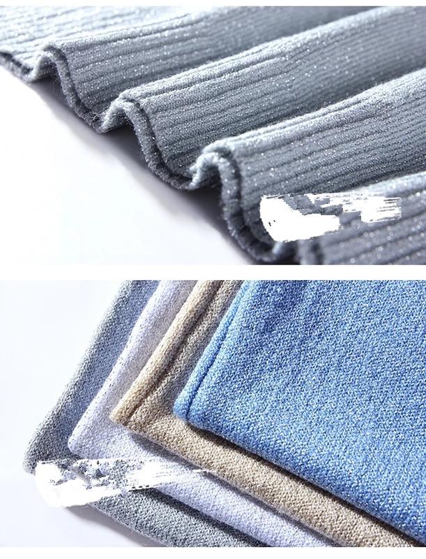 Slim Sexy V-neck Knit Shiner Base Shirt Gallus Waistcoat 5