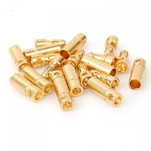 JFBL Hot 20 pairs 3.5 mm Gold-plated Banana Plugs Engine Electronic Connectors