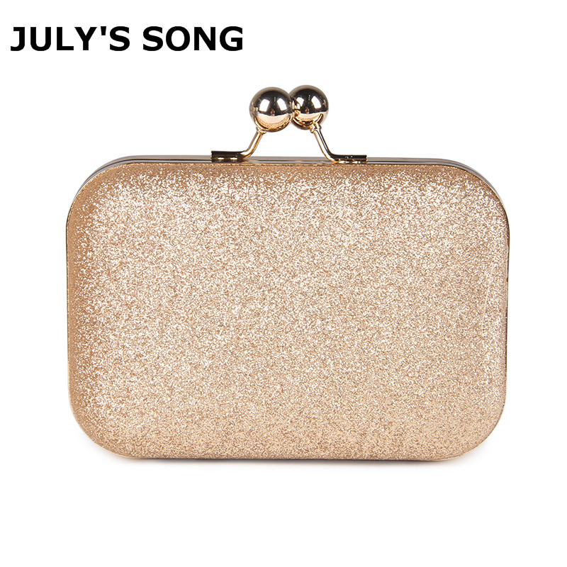 JULY'S SONG Woman Evening Bag Women Gold Clutch Bags Shiny Sequins Day Clutch Wallet Wedding Purse Party Banquet Mini Handbag