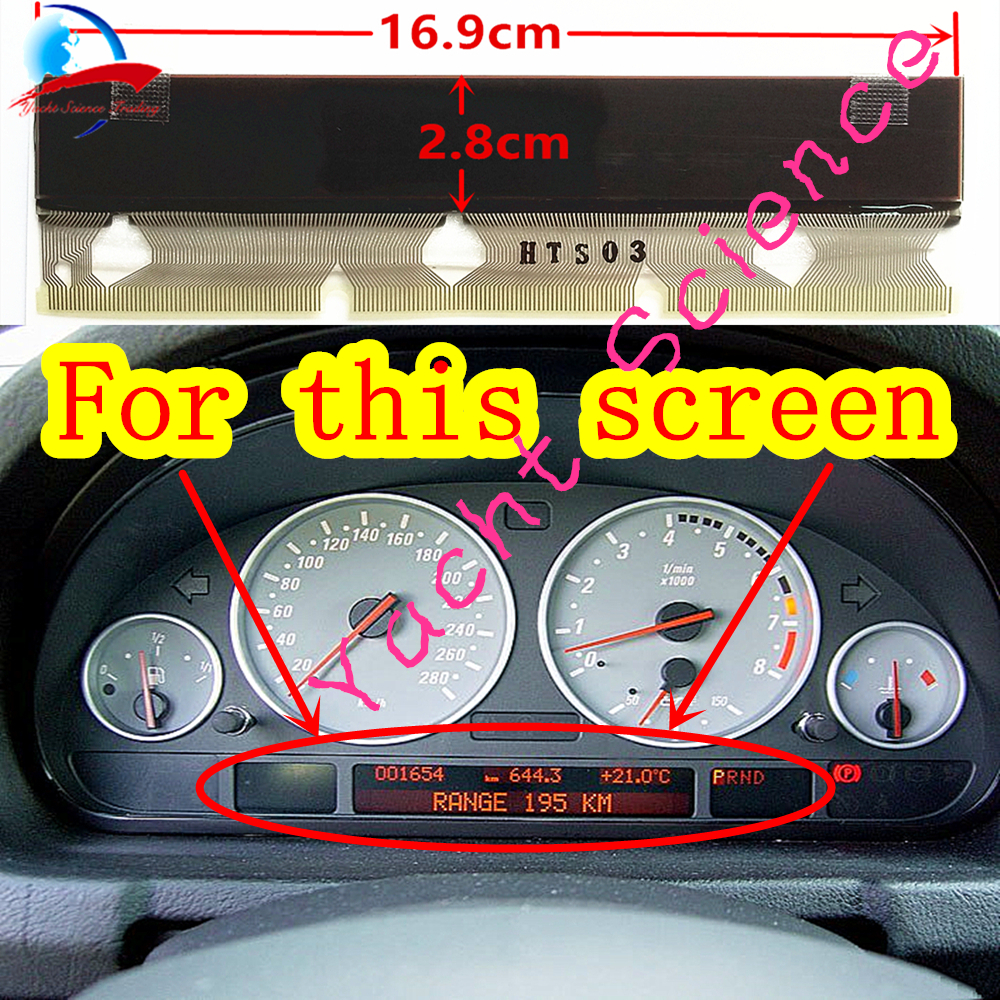 BMW E38 E39 E53 Speedometer Instrument Cluster LCD Display Screen Pixel Repair