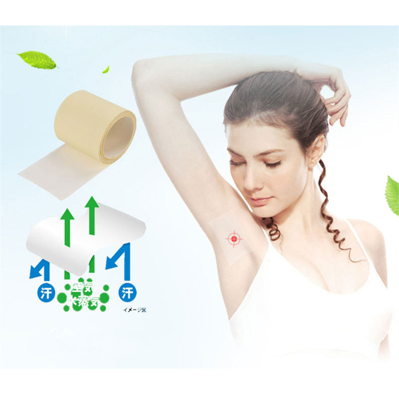 6M/1Roll Armpit Sweat Pads Thinness Ventilate Dress Sweat Perspiration Pads Transparent Deodorant Antiperspirant Hardwear Unisex