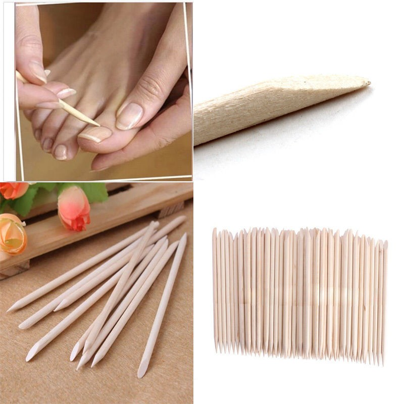 20 X 11.5cm Wooden Orange Cuticle Sticks Nail Art Manicure Pedicure Tool Nail Care, Manicure & Pedicure