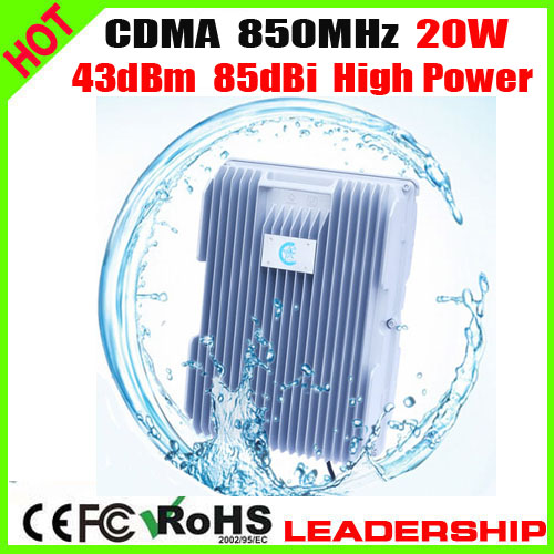 For Ship Tunnel Farm Use High Power CDMA 850MHZ 20Watts 40dbm 85dbi Cellular Mobile/cell Phone Signal Booster Amplifier Detector