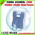 Novo 20 W de alta potência 20 Watts CDMA 850 mhz repetidor CDMA Mobile phone signal booster celular repetidor 40dBm 85dBi amplificador