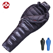 AEGISMAX Lengthened Thicken Adult Mummy Sleeping Bag 800FP Goose Down Ultralight Camping Winter Splicing Double Sleeping Bag