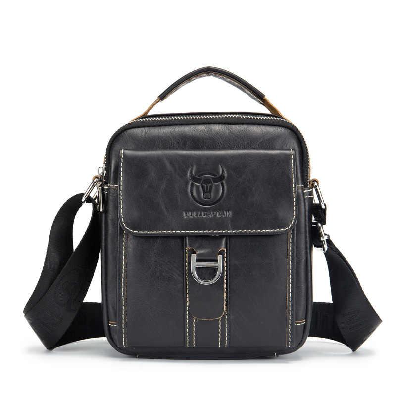 d66d95c358 Men s Shoulder Bag Small Genuine Cowhide Leather Clutch Handbag Messenger  Male Flap Bags Crossbody Sling Luxury