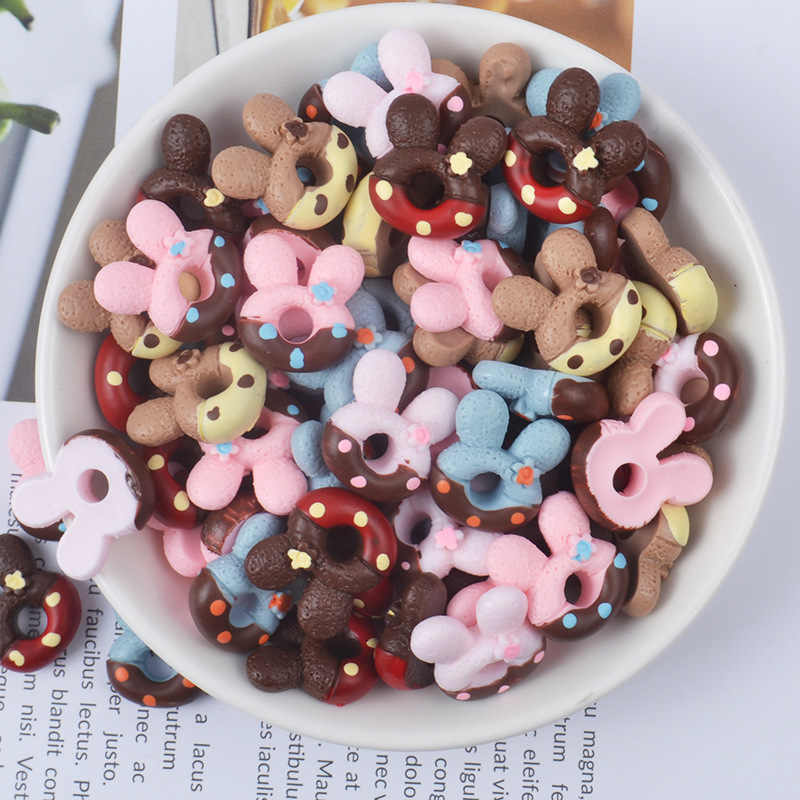 Addition Slime Supplies Accessories Cute Donut Mold Decoration for Charm Lizun Slime Filler Slime Kids Toys Decoration Gift E