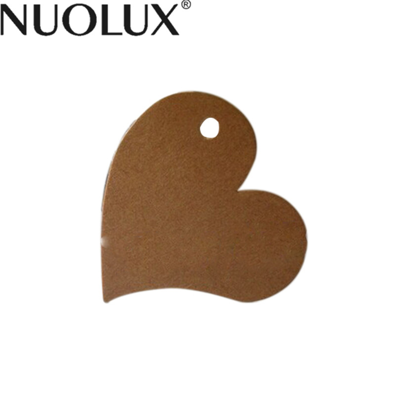 100pcs Rustic Heart Shaped Kraft Paper Card / Wedding Favour Gift Tag / DIY Tag / Luggage Tag / Price Label