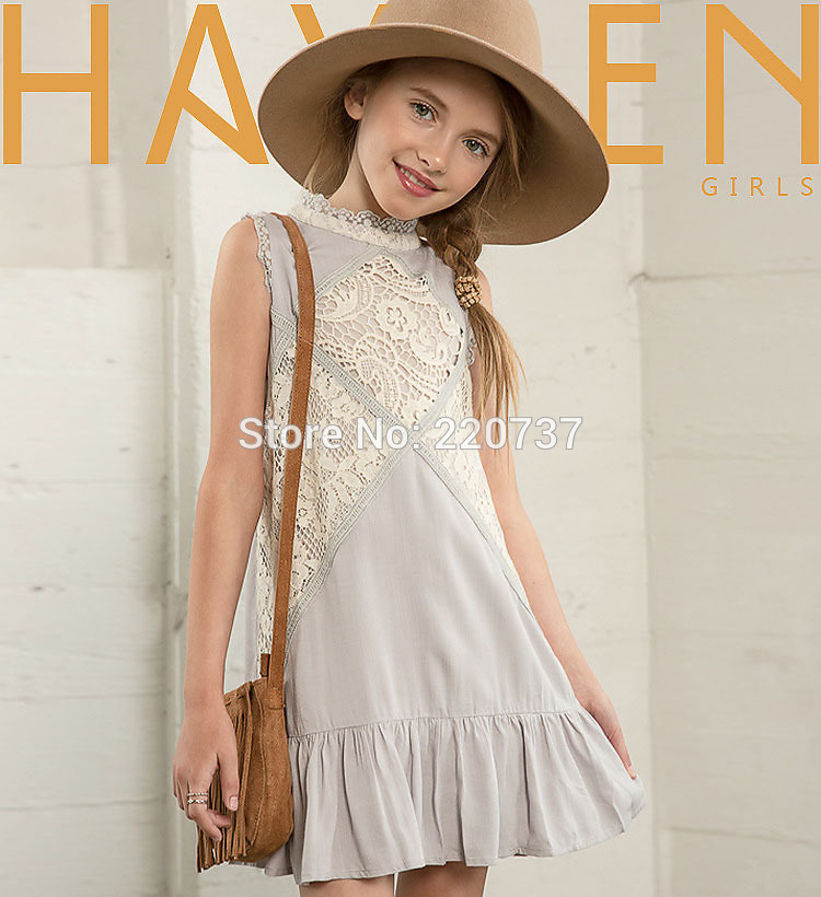 Teenage Girls Dresses Kids dresses for Girls Summer Dress A-line Princess Dress Kids Clothes Girls 7-14 Year Olds.#4P68 hayden girls boho ethnic dress designs teenage girls national embroidered dresses flare sleeve loose fit dress for 7 to 14 years