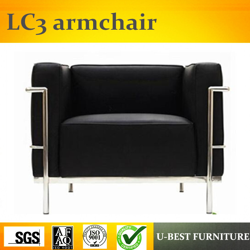 U-BEST modern stainless steel le corbusier Charles LC3 Grande Armchair,Single Seat Sofa Armchair Le Corbusier запчасть tetra крепление для внутреннего фильтра easycrystal 250