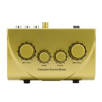 Professional Mini Karaoke Audio Mixer Ultra compact 2 Channel Line Mono Microphone Sound Mixing Amplifier For Family KTV