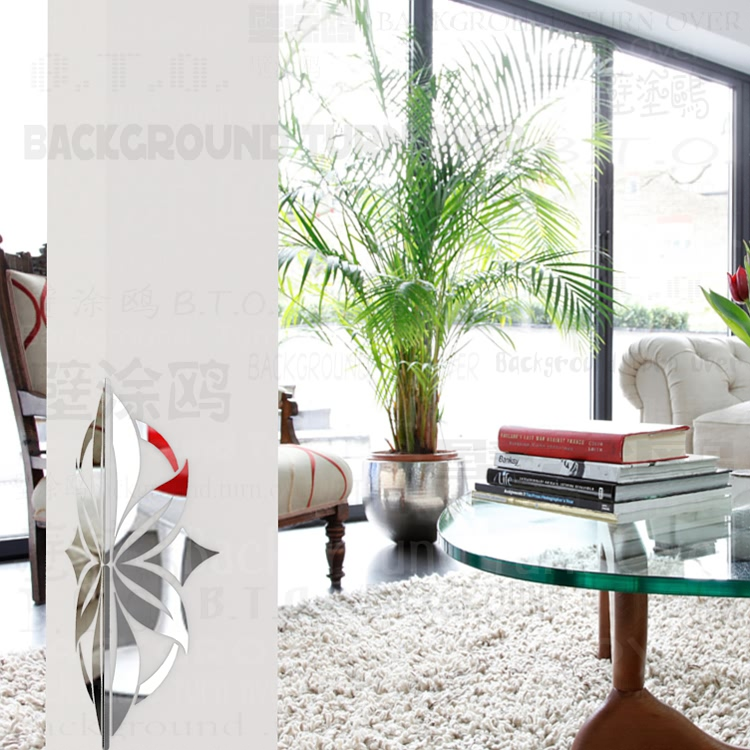 Moderne Géométrie Forme Décoratif Coin Protecteurs En Métal Garde 3d Acrylique Miroir Stickers Muraux Motif Salon Décor C019