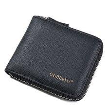 Подлинный Модный кожаный бумажник, первый слой из кожи, мужской кошелек с отделением для монет, клатч, кошелек, многофункциональная Сумочка с отделением для карт, посылка
