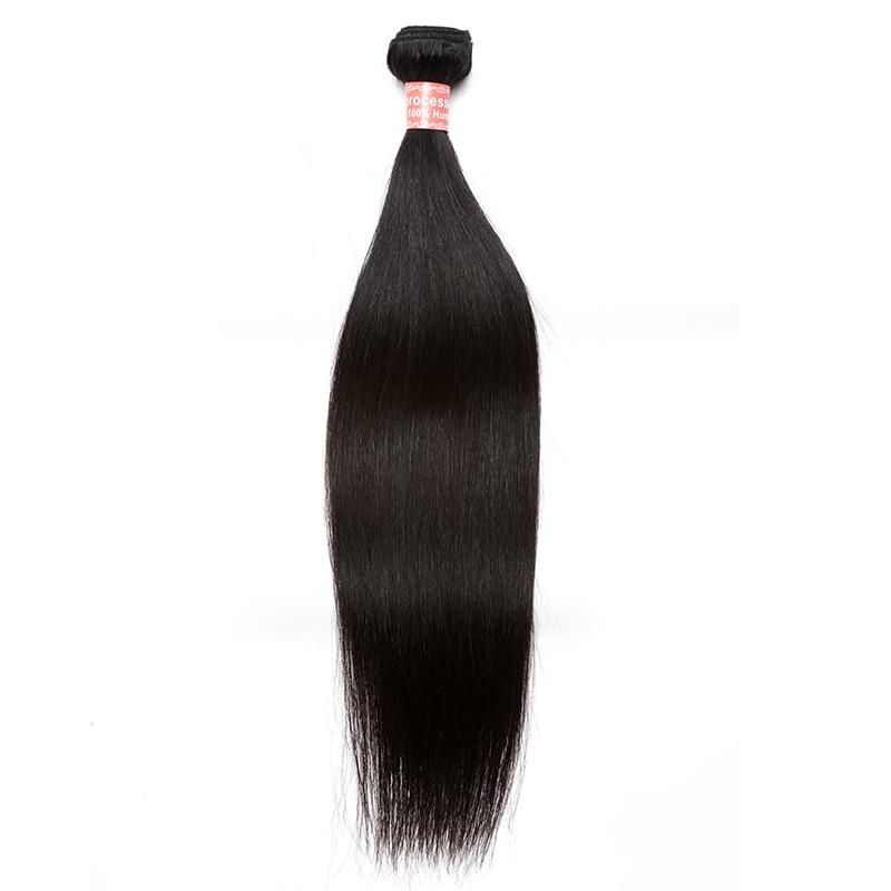 Brazilian Hair Bundles Straight Human Hair Weave Bundles 1 Pc Brazilian Virgin Hair Extensions Natural Color Comingbuy Hair