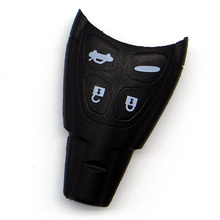 WhatsKey Replacement 4 Button Smart Remote Key Soft Buttons Fob Case Shell For Saab 93 95 9-3 9-5 With LOGO