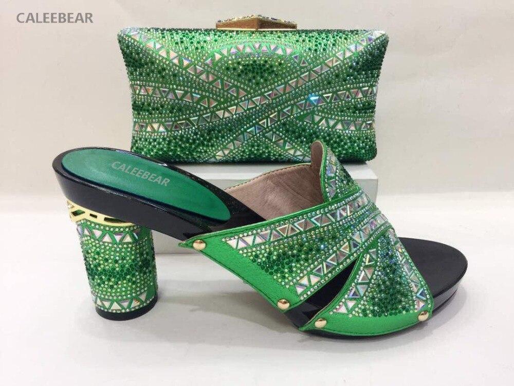 As Femme Dame Mode Et Sac Vert Top Pompes Ligne De Gros as Africaine Talons En Ensemble Mariage Picture Chaussures Picture Hauts Italiennes SU5WCCqw