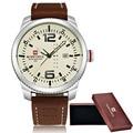 2016 Luxury Brand NAVIFORCE Date Quartz watch Men Casual Military Sports Watches Leather Wrist Watch Male Relogio Masculino