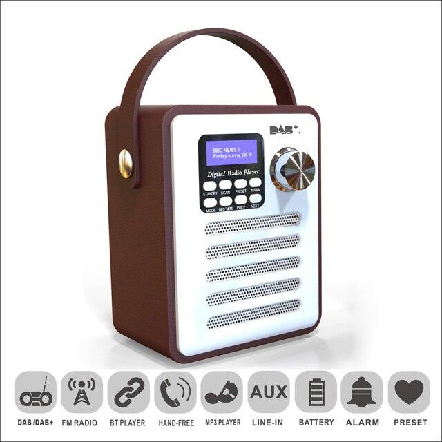 DAB/DAB + デジタルラジオワイヤレス Bluetooth スピーカー MP3 プレーヤー AUX TF U ディスク読書 Fm ラジオポータブルハンドルアラーム時計