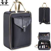 Wenjie Brother New Arrival Large Multi Storey Professional Make Up Package Bag Nail Pattern Semi Permanent