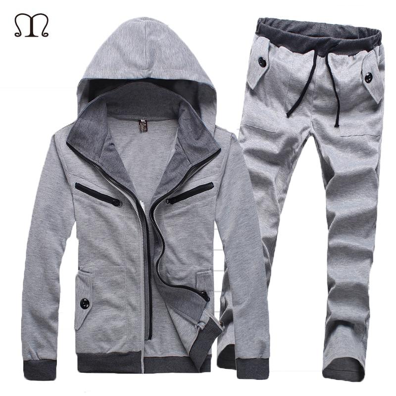 Marca abrigo de invierno chándal para hombres chándal hombre Chandal hombre  Harajuku masculino casual trajes chándal hombres ee.uu. tamaño 6a75ae759eec