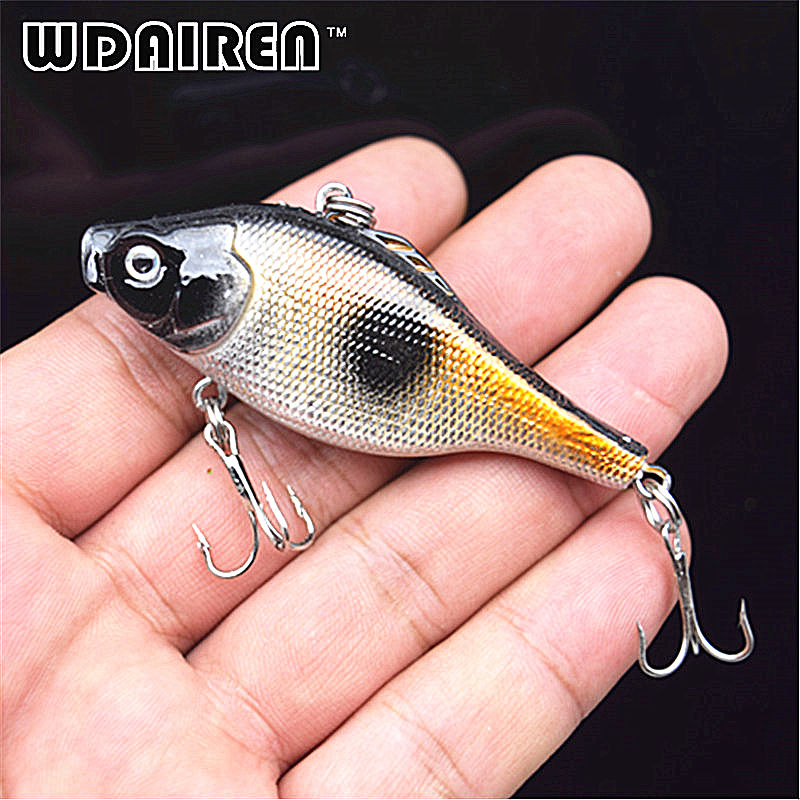 1Pcs 6.5cm 12g Winter Fishing Hard Bait VIB with Lead Inside Ice Sea Fishing Tackle Diving Swivel Jig Wobbler Lure FA-236 brand new 1pcs winter fishing lures hard bait vib with lead inside lead fish ice sea fishing tackle swivel jig wobbler lure best