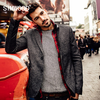 SIMWOOD Brand New Autumn Winter Casual Blazer Men Fashion Suits Slim Fit Clothing Coats XZ6103