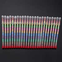 24 pièces/ensemble bricolage enfants échange Point Crayon Crayon crayons de couleur Art parti butin sac remplisseurs dessin Crayon ensemble fête faveurs