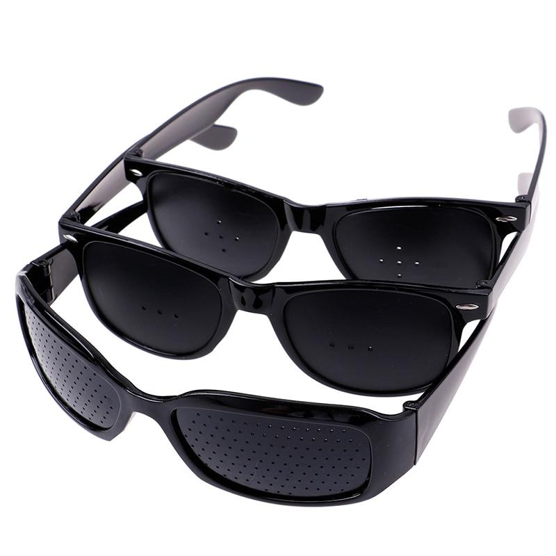 Unisex Vision Care Pin Hole Eyeglasses Hole Glasses Eye Exercise Eyesight Improve Plastic Natural Healing Cheap 3Styles 2