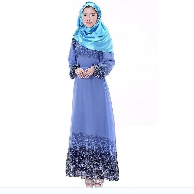 2016 настоящее кафтан Abayas пояса для взрослых халат Musulmane абая турецкий новый мусульманский халаты одежда шифон большие качели платье W112