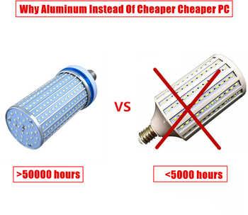 Aluminum alloy 110lm/w e27 LED bulb e40 led lamp AC220v~240v 50/60hz e27 e40 40w 50w 60w 100w 120w LED corn light bulb