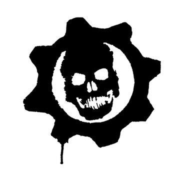 15.9cm*17cm Gears Of War Vinyl Car Styling Car Sticker Black/Silver S3-5409 gears of war logo png