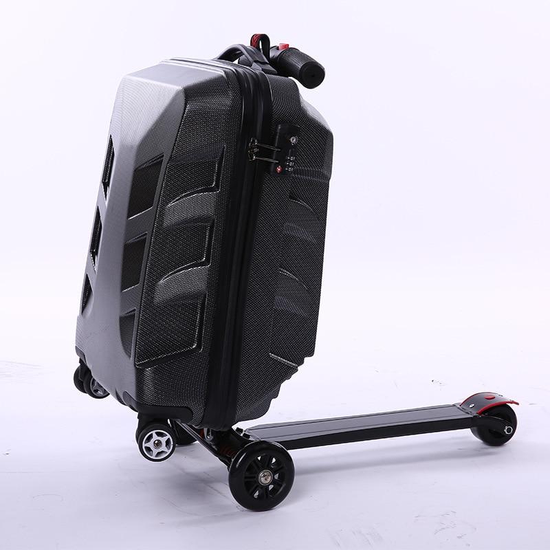Bagaglio A Mano Creativo Pull-contenitore Di Asta Per Il Nuovo Skateboard Auto Di Corsa Di Modo Scatola Di Imbarco Per Gli Uomini E Le Donne Facebox Belle Arti