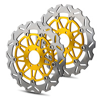 Одна пара мотоциклов спереди тормозного диска ротора для Aprilia RSV4 1000 dorsoduro 750 900 1200 Tuono V4 Mana 850 CAPONORD