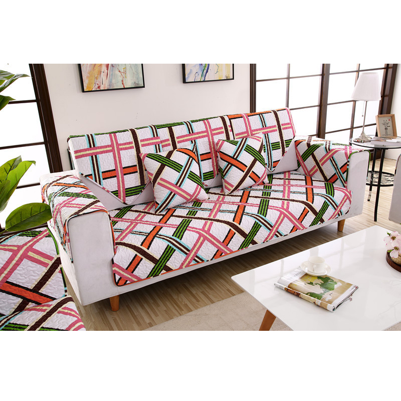 stylish sofa arm covers | Modern Cotton Cover on the corner sofa Slip Resistant Sofa ...