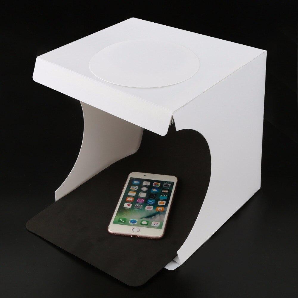 SOONHUA Portable Lightbox Softbox LED Folding Mini Photo Studio Light box Room Photography Backdrop Light Box Softbox Tent Kit