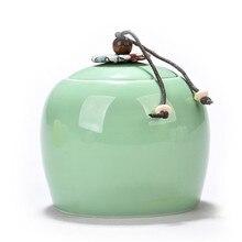 Chinese Style Tea Canister Sealed Tea Pot Ceramic Tea Storag