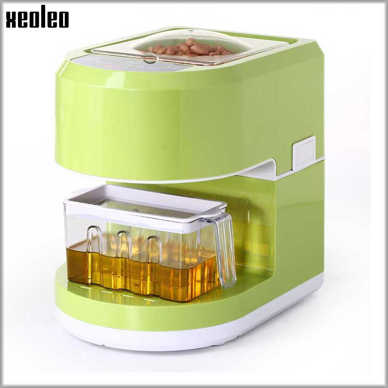 XEOLEO Oil press machine 400W Hot&Cold press oil machine Green Oil preeser Touch control Peanut oil maker for Sunflower/Flaxseed