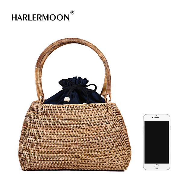Straw Handwoven Round Rattan Bag Shoulder Leather Straps Natural Chic Hand  100% HANDMADE NATURAL UNIQUE 9d3214f6fb8a1