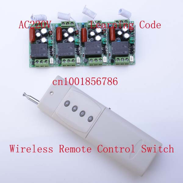 220V 10A 4CH rf wireless remote control led <font><b>lights</b></font> switch 315mhz 433mhz <font><b>outdoor</b></font> smart home automation wireless switch z-wave