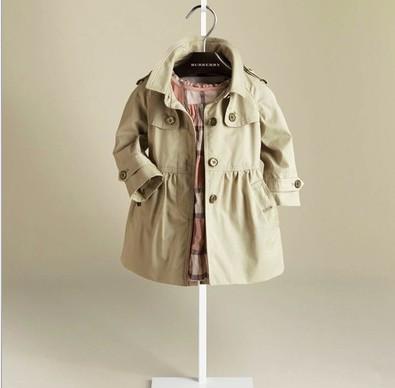 Nueva Moda de Primavera y Otoño niñas trinchera Niños abrigo Los Niños ropa de Abrigo niñas chaqueta J0223