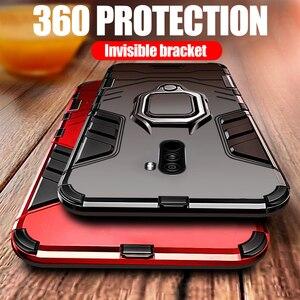 Чехол KEYSION Armor для Xiaomi Pocophone F1, ударопрочный защитный чехол из поликарбоната и ТПУ для Poco F1, магнитный держатель, кольцевой кронштейн