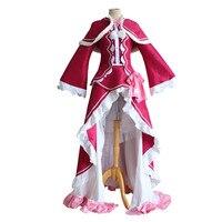 Beatrice Re: nul Kara Hajimeru Isekai Seikatsu Re Leven In een Verschillende Wereld Cosplay Kostuum Rose Rode Volwassen Vrouwen kostuums