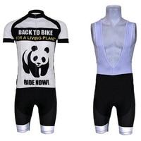 Vente chaude!! Panda Blanc Pro Cycling Team jersey (Bib) Shorts Set Ropa Ciclismo Vélo Veste Vélo Vêtements de Sport À Séchage Rapide