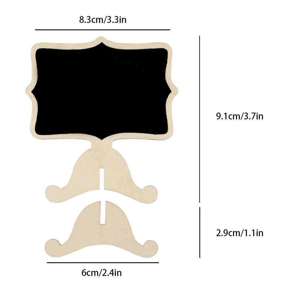 ABEDOE 10 шт./компл. мини кружевом границы картины Blackboard знаки с подставкой доске этикетка для Свадебная вечеринка Топ офисный стол