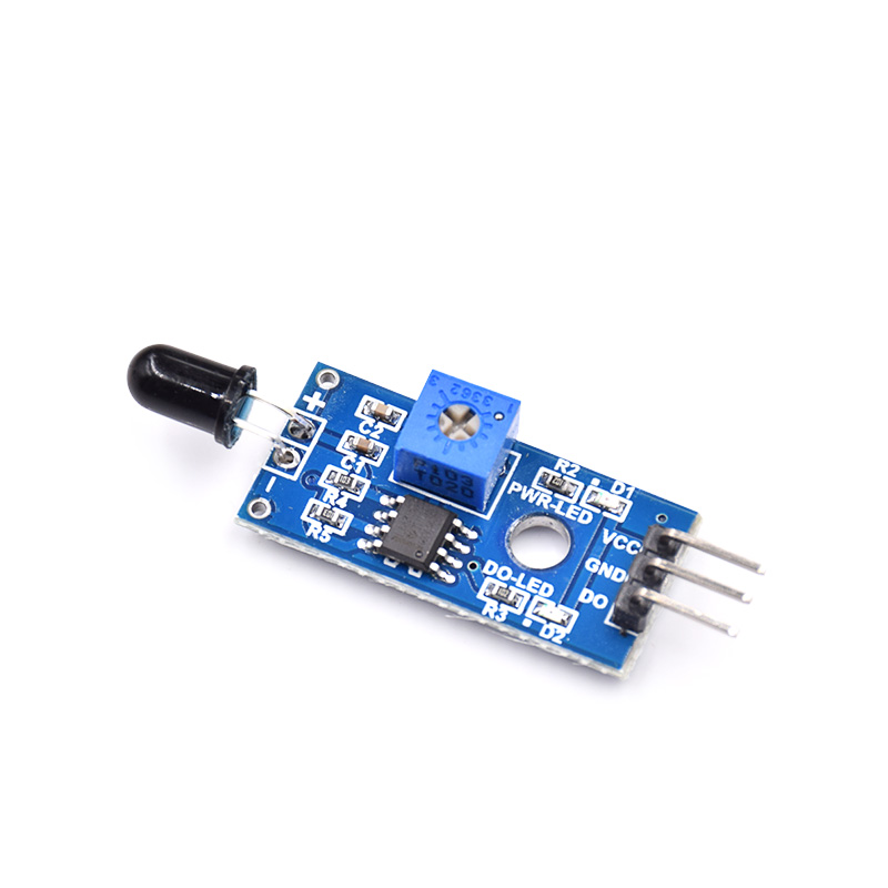 Free Shipping 20Pcs/Lot IR Flame Sensor Module Detector Smartsense For Temperature Detecting Suitable