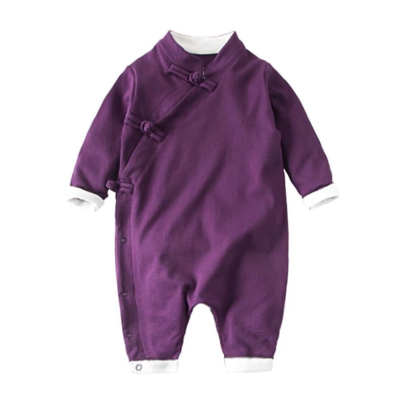 Chinese Retro Baby Rompers Ropa Bebe Cotton Newborn Babies Infant 0-24M  Baby Girls Boy Clothes Jumpsuit Romper Baby Clothing newborn baby rompers high quality natural cotton infant boy girl thicken outfit clothing ropa bebe recien nacido baby clothes