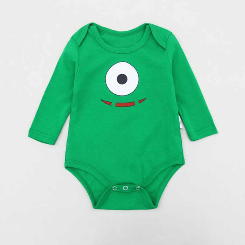 b6a2903a028 Newborn Baby Cotton Rompers Cartoon Minions Baby Boys Girls Long Sleeve  Baby Costume Jumpsuits Roupas Bebes