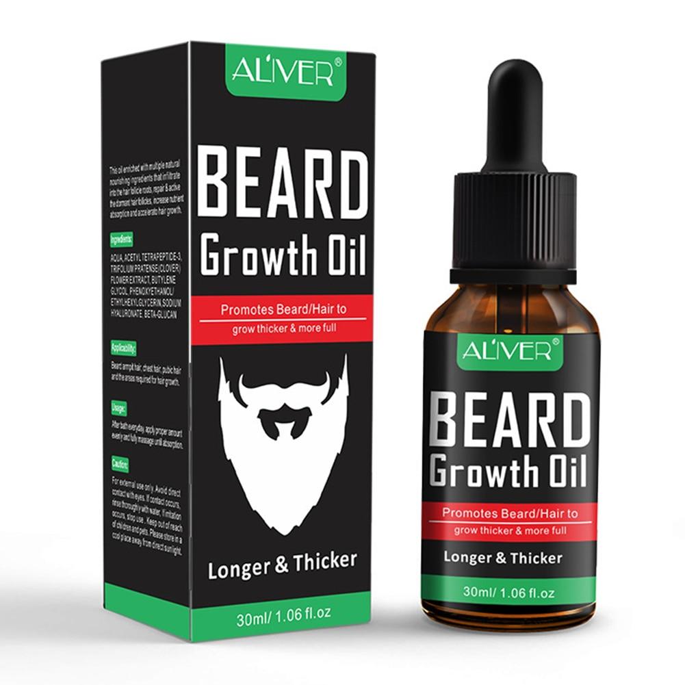 1pcs 30ml Natural Beard Growth Essential Oil Nourishing Beard Care Moustache Growing Essence Liquid