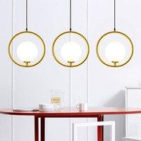 Sótão Retro Americano Luz Pingente de Cristal de Ferro OURO Para Restaurante Sala De Jantar Quarto café Sala de estar lâmpadas LED E27 Lustres     -