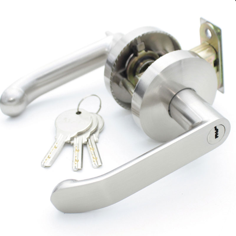 Three Bar Handle Lock Indoor Door Lock with Key Bedroom Door Lock with Knob 35 55mm door thickness door handle brass lock with 70mm key lock page 6